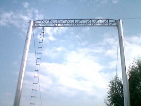 portico in alluminio per trapezio