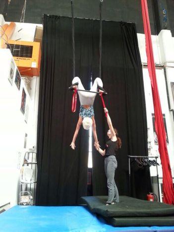 lezioni acrobatica aerea - tessuto aereo e trapezio