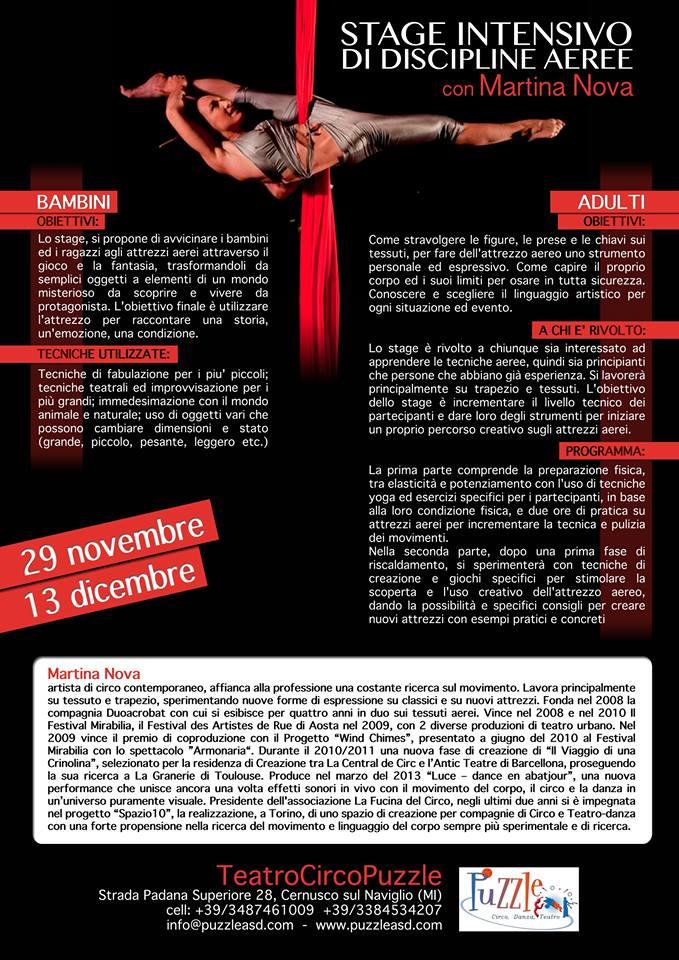 martina nova corsi e stage teatro circo puzzle Milano