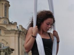 Beatrice Rosso, festa dello sport, la fucina del circo Torino tessuti aerei (4)