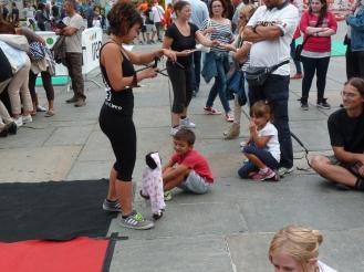 simona ferrara torino piazza castello festa dello sport, la fucina del circo (5)
