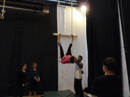 trapezio stage, La Fucina del Circo, Anibal Virgilio