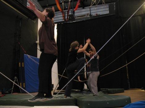 stage di corda molle, Albert Martinez, La Fucina del Circo, Torino, equilibrio su filo, workshop, (11)