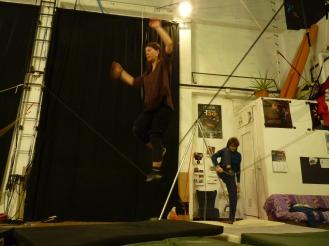 stage di corda molle, Albert Martinez, La Fucina del Circo, Torino, equilibrio su filo, workshop (1)