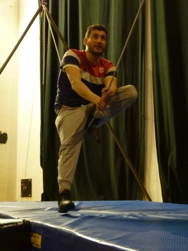 stage di corda molle, Albert Martinez, La Fucina del Circo, Torino, equilibrio su filo, workshop (11)