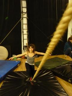 stage di corda molle, Albert Martinez, La Fucina del Circo, Torino, equilibrio su filo, workshop (12)