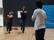 stage di corda molle, Albert Martinez, La Fucina del Circo, Torino, equilibrio su filo, workshop (2)