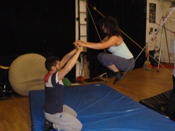 stage di corda molle, Albert Martinez, La Fucina del Circo, Torino, equilibrio su filo, workshop (3)