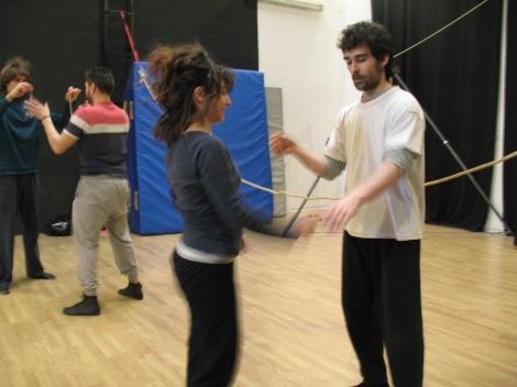 stage di corda molle, Albert Martinez, La Fucina del Circo, Torino, equilibrio su filo, workshop, (4)