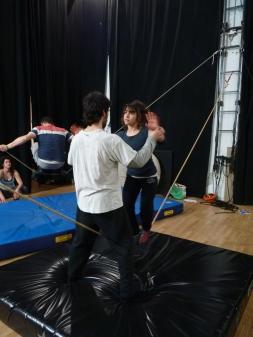 stage di corda molle, Albert Martinez, La Fucina del Circo, Torino, equilibrio su filo, workshop (4)