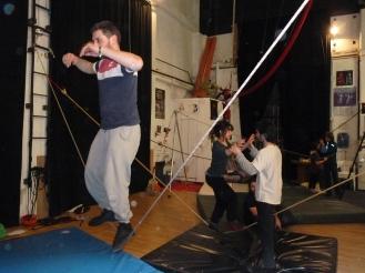 stage di corda molle, Albert Martinez, La Fucina del Circo, Torino, equilibrio su filo, workshop (5)