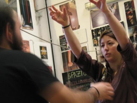 stage di corda molle, Albert Martinez, La Fucina del Circo, Torino, equilibrio su filo, workshop, (6)