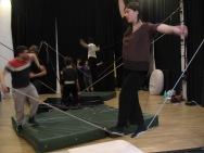 stage di corda molle, Albert Martinez, La Fucina del Circo, Torino, equilibrio su filo, workshop, (7)