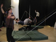 stage di corda molle, Albert Martinez, La Fucina del Circo, Torino, equilibrio su filo, workshop, (8)