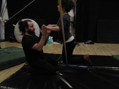 stage di corda molle, Albert Martinez, La Fucina del Circo, Torino, equilibrio su filo, workshop, (9)