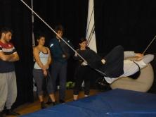 stage di corda molle, Albert Martinez, La Fucina del Circo, Torino, equilibrio su filo, workshop (9)