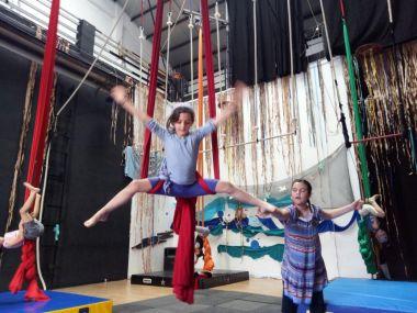 Circo ludico, bimbi, la fucina del circo, fusion fest, festa di fine anno, torino, corsi, aerea junior, acrobatica, (6)