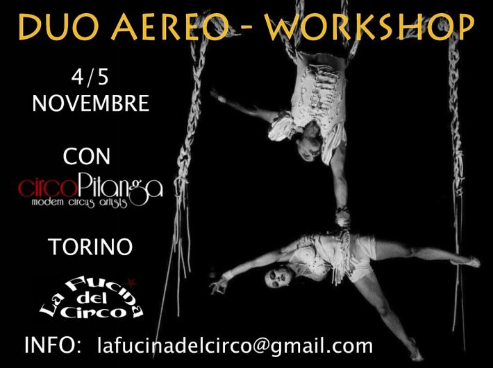 circo pitanga, workshop, la fucina del circo, torino, duo tessuto,