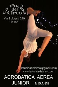 acrobatica aerea junior, ragazzi, danza aerea, discipline aeree, la fucina del circo, torino, scuola di circo, corsi arti circensi