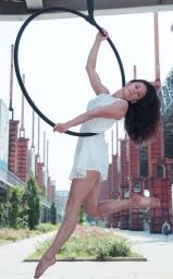 cerchio aereo, corso, la fucina del circo